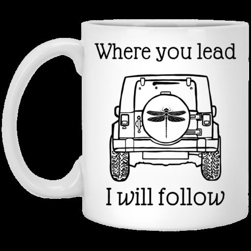 Jeep where you lead i will follow mug $14.95 redirect04122021000406
