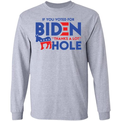 If you voted for Biden thanks for a lot donkey hole shirt $19.95 redirect04122021030436 4