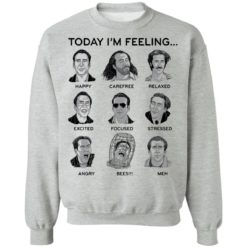 Nicolas cage today i'm feeling shirt $19.95 redirect04122021040441 8