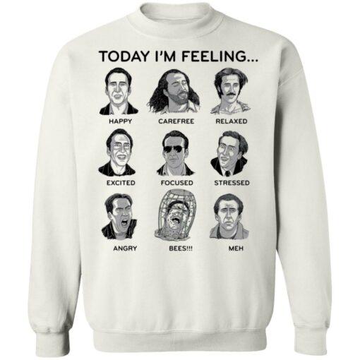 Nicolas cage today i'm feeling shirt $19.95 redirect04122021040442