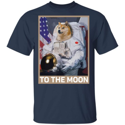 Dogecoin Astronaut to the Moon Blockchain Crypto shirt $19.95 redirect04162021000447 1