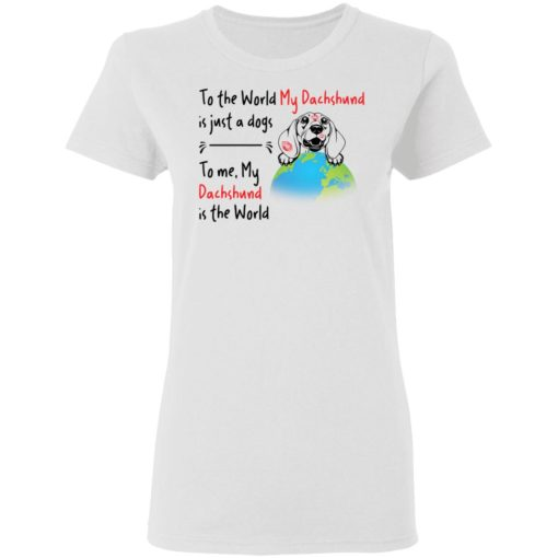 To the world my dachshund is just a dogs to me my dachshund is the world shirt $19.95 redirect04162021050430 2