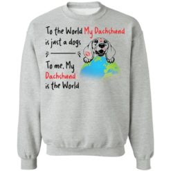 To the world my dachshund is just a dogs to me my dachshund is the world shirt $19.95 redirect04162021050430 8