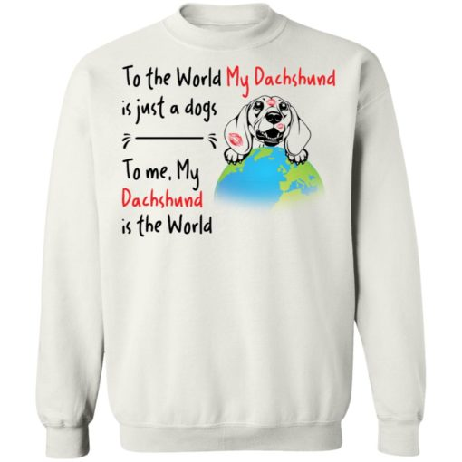 To the world my dachshund is just a dogs to me my dachshund is the world shirt $19.95 redirect04162021050430 9