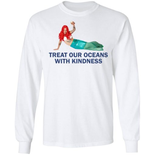 Harry Styles Mermaid Treat our oceans with kindness shirt $19.95 redirect04182021220431 5