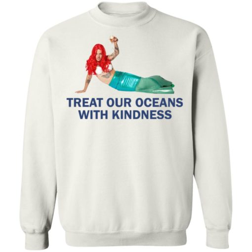 Harry Styles Mermaid Treat our oceans with kindness shirt $19.95 redirect04182021220431 9