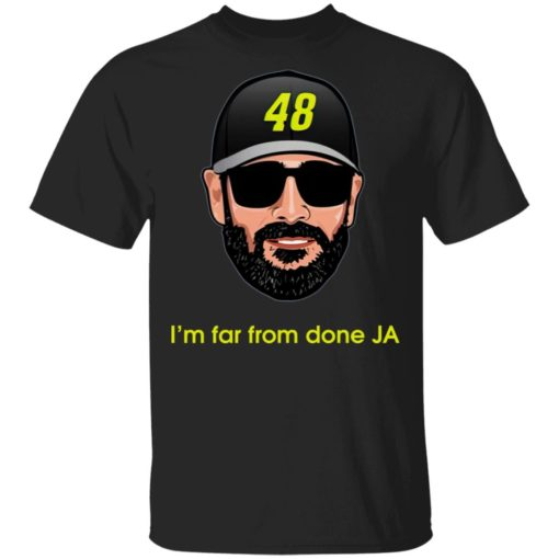 Jimmie Johnson I'm far from done JA shirt $19.95 redirect04182021230443