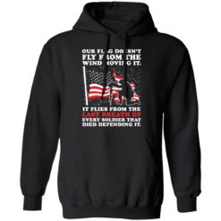 Our flag doesn't fly from the wind moving it shirt $19.95 redirect04202021000404 6