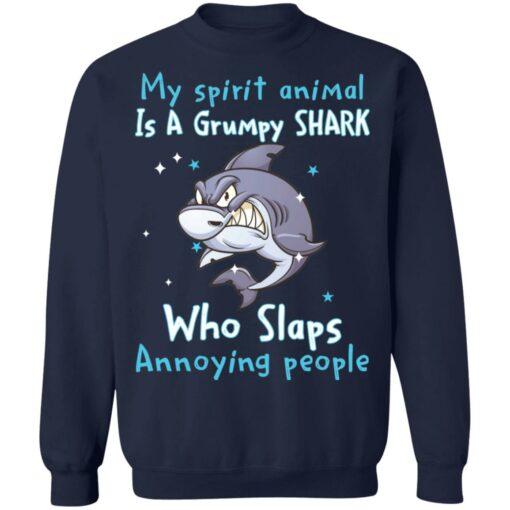 My spirit animal is a grumpy shark who slaps annoying people shirt $19.95 redirect04202021010441 6