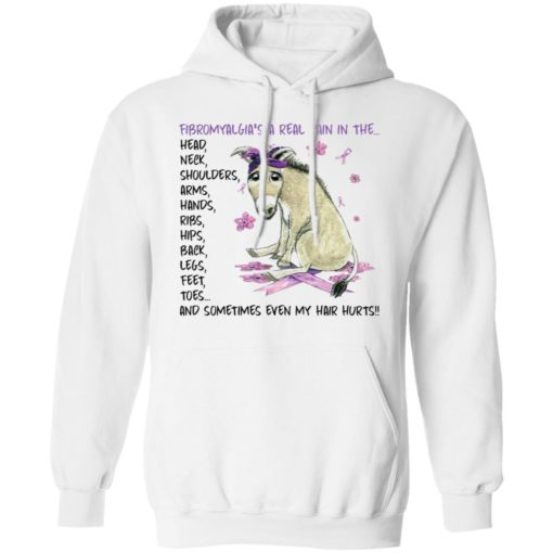 Donkey fibromyalgia's a real pain in the head neck shirt $19.95 redirect04202021040455 7