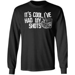 It's cool i've had my shots shirt $19.95 redirect04202021230435