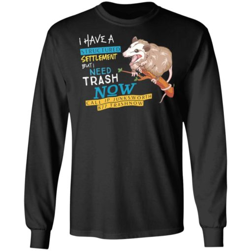 Possum I have a structured settlement but I need trash now shirt $19.95 redirect05032021060520 4