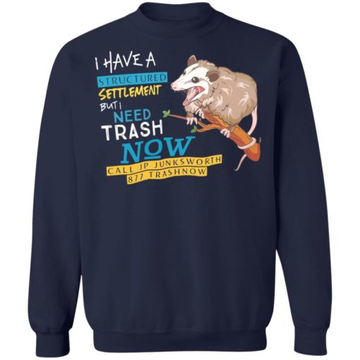 Possum I have a structured settlement but I need trash now shirt $19.95 redirect05032021060520 9