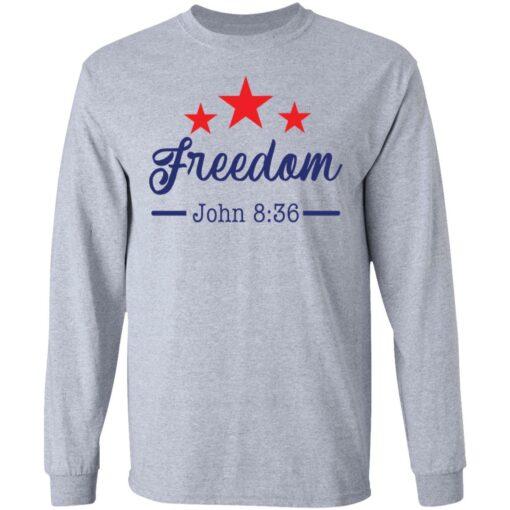Star freedom John 8 36 shirt $19.95 redirect05042021030528 4