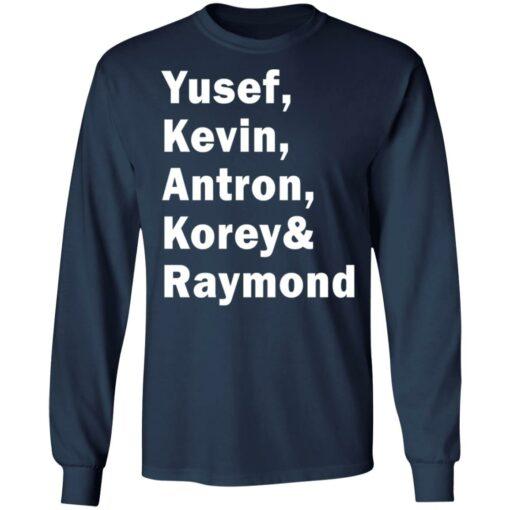 Yusef Kevin Antron Korey and Raymond shirt $19.95 redirect05042021220503 5