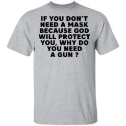 If you don't need a mask because God will protect you why do you need a gun shirt $19.95 redirect05052021030503 1