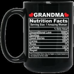 Grandma nutrition facts serving size 1 amazing woman mug $15.99 redirect05062021050520 1