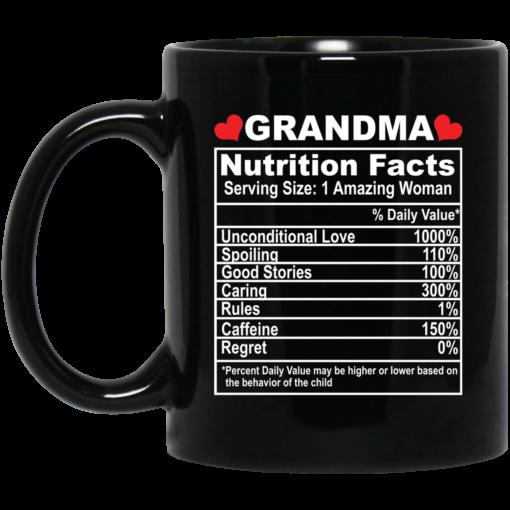 Grandma nutrition facts serving size 1 amazing woman mug $15.99 redirect05062021050520
