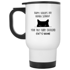 Personalized Cat Dad Mug human servant your tiny furry overlord $16.95 redirect05212021230536 1