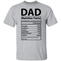 Dad Nutrition facts serving size 1 amazing father shirt $19.95 redirect05212021230537 1