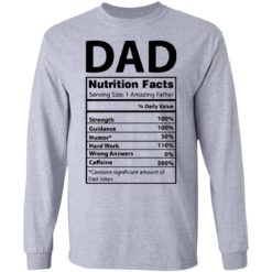 Dad Nutrition facts serving size 1 amazing father shirt $19.95 redirect05212021230537 4