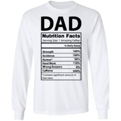 Dad Nutrition facts serving size 1 amazing father shirt $19.95 redirect05212021230537 5