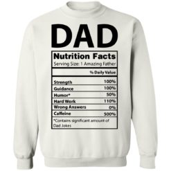 Dad Nutrition facts serving size 1 amazing father shirt $19.95 redirect05212021230537 9
