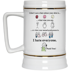 I don't care what colour your skin is what size you are mug $16.95 redirect05232021230559 3