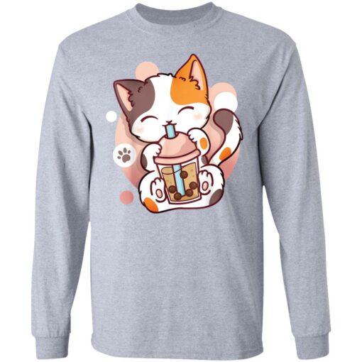 Cat boba tea bubble tea anime kawaii neko shirt $19.95 redirect05252021000549