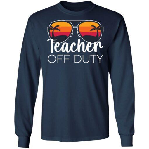 Teacher off duty sunglasses beach sunset shirt $19.95 redirect05252021020510 1