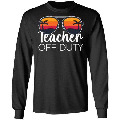 Teacher off duty sunglasses beach sunset shirt $19.95 redirect05252021020510