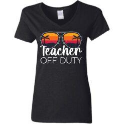 Teacher off duty sunglasses beach sunset shirt $19.95 redirect05252021020510 8