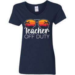 Teacher off duty sunglasses beach sunset shirt $19.95 redirect05252021020510 9