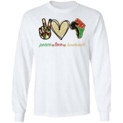 Peace love juneteenth shirt $19.95 redirect05252021230510 1