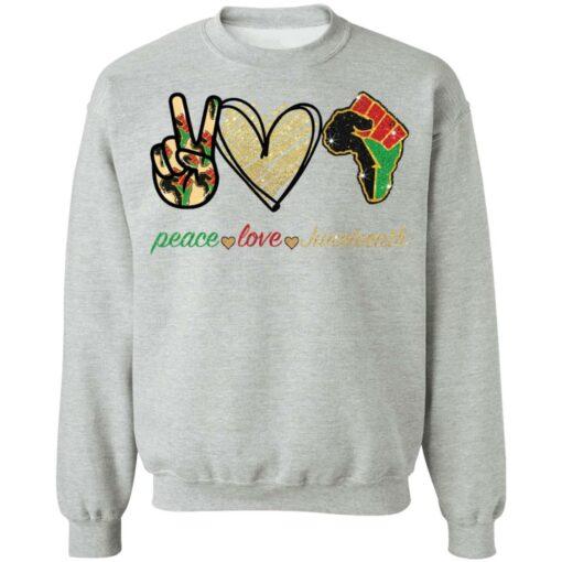Peace love juneteenth shirt $19.95 redirect05252021230510 4