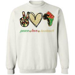 Peace love juneteenth shirt $19.95 redirect05252021230510 5