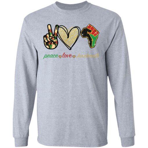 Peace love juneteenth shirt $19.95 redirect05252021230510