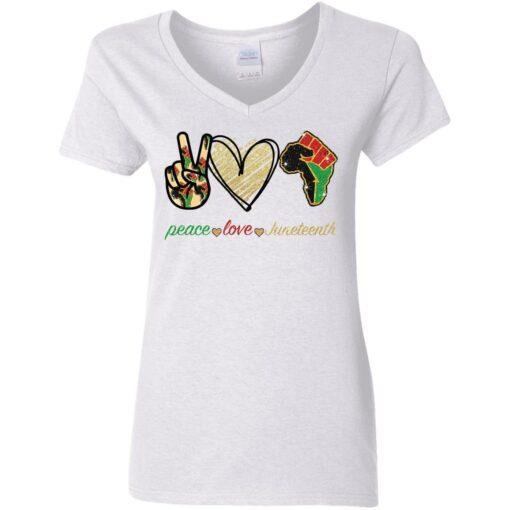 Peace love juneteenth shirt $19.95 redirect05252021230510 8