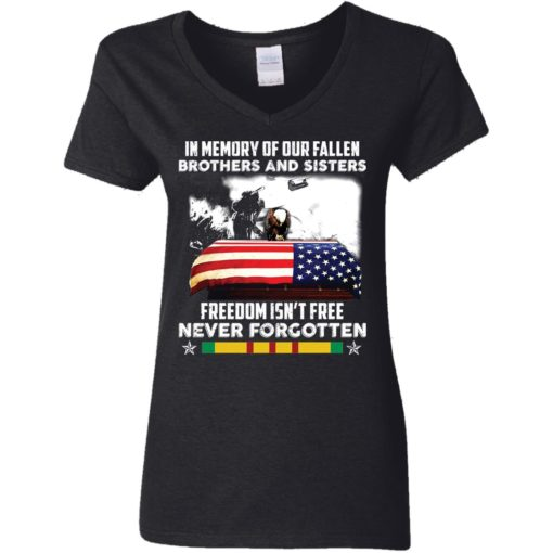 In memory of our fallen brothers and sisters freedom isn't free never forgotten shirt $19.95 redirect05272021050555 2