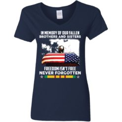 In memory of our fallen brothers and sisters freedom isn't free never forgotten shirt $19.95 redirect05272021050555 3