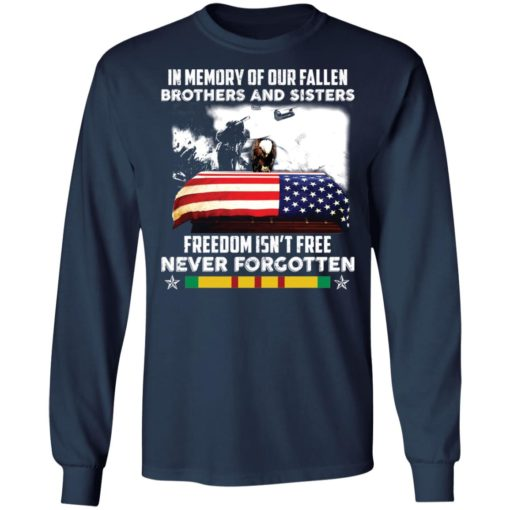 In memory of our fallen brothers and sisters freedom isn't free never forgotten shirt $19.95 redirect05272021050555 5