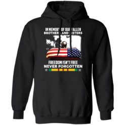 In memory of our fallen brothers and sisters freedom isn't free never forgotten shirt $19.95 redirect05272021050555 6