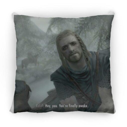 Hey You Youre Finally Awake Skyrim square pillow $26.95 redirect05272021110514