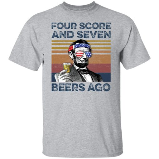 Abraham Lincoln four score and seven beers ago shirt $19.95 redirect05302021220502 1