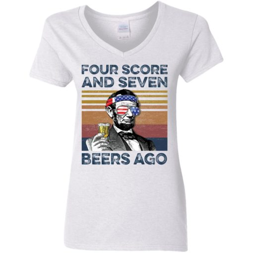 Abraham Lincoln four score and seven beers ago shirt $19.95 redirect05302021220502 2