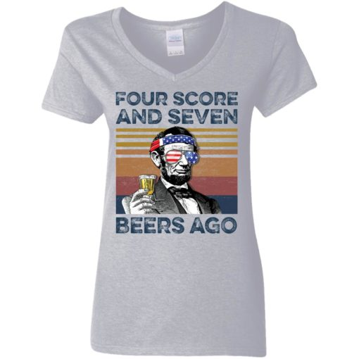 Abraham Lincoln four score and seven beers ago shirt $19.95 redirect05302021220502 3