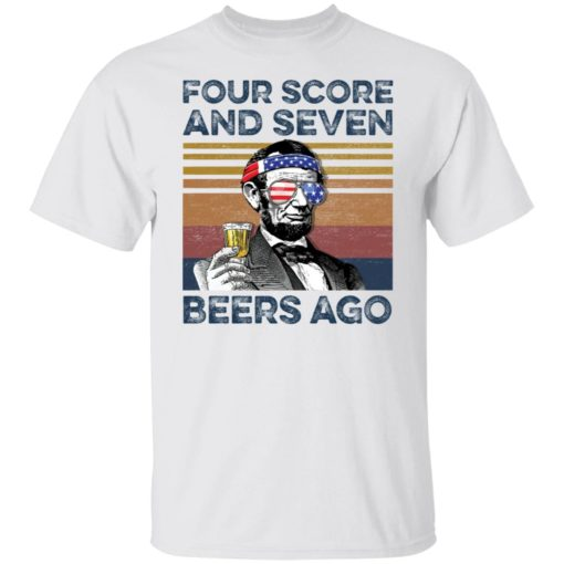 Abraham Lincoln four score and seven beers ago shirt $19.95 redirect05302021220502