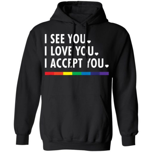 LGBT pride I see you i love you i accept you shirt $19.95 redirect05312021230505 6