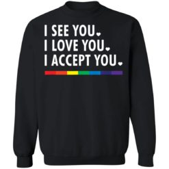 LGBT pride I see you i love you i accept you shirt $19.95 redirect05312021230505 8