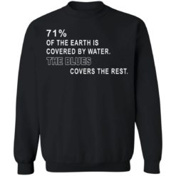 71% of the earth is covered by water the blues covers the rest shirt $19.95 redirect05312021230550 8